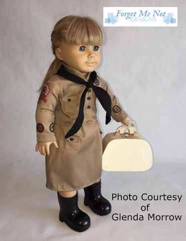 "Forget Me Not Designs 18 Inch Historical 1914 Scout Uniform 18"" Doll Clothes Pattern Pixie Faire"