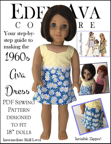 "1960s Ava Dress 18"" Doll Clothes"