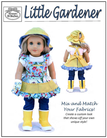 "Little Gardener 18"" Doll Clothes Pattern"