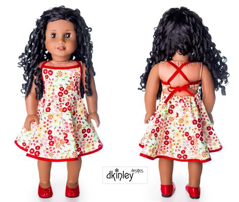 "Sweet All Around Sundress 18"" Doll Clothes Pattern"