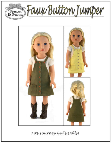 "Faux Button Front Jumper for 18"" Journey Girls and 19"" Gotz Dolls"