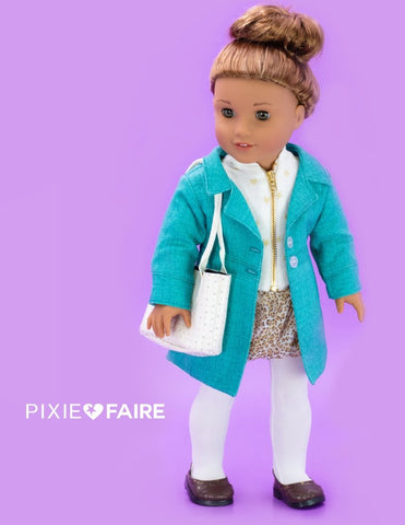 "Le Marais Coat 18"" Doll Clothes Pattern"