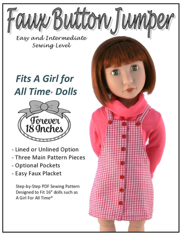 Faux Button Jumper for AGAT Dolls