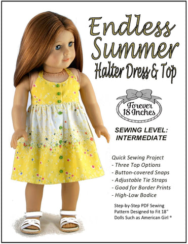 "Forever 18 Inches 18 Inch Modern Endless Summer Halter Dress and Top 18"" Doll Clothes Pixie Faire"