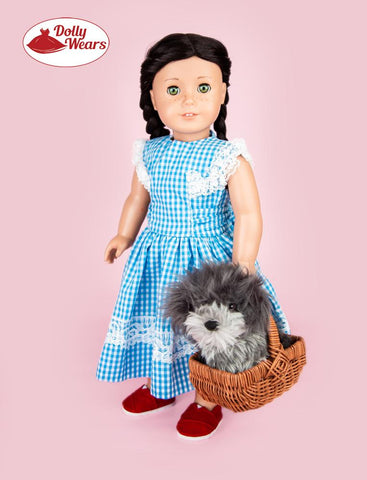 "50s N Gingham 18"" Doll Clothes Pattern"