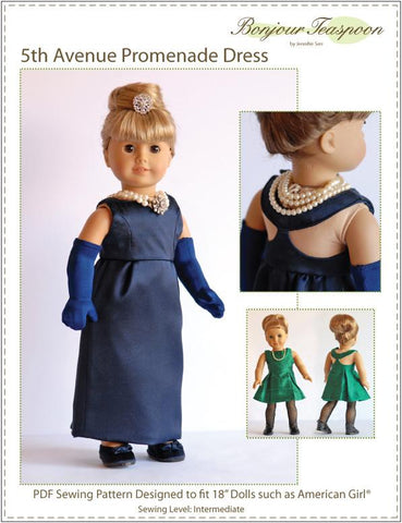 "5th Avenue Promenade Dress 18"" Doll Clothes"