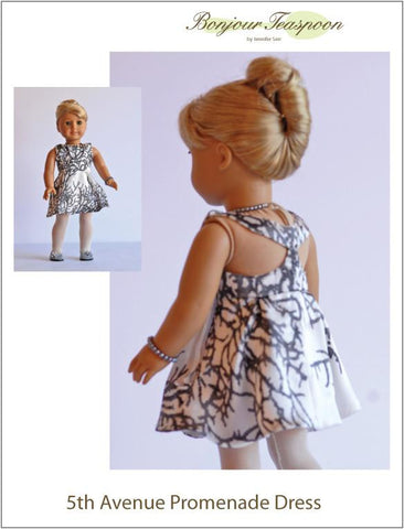 "5th Avenue Promenade Dress 18"" Doll Clothes Pattern"