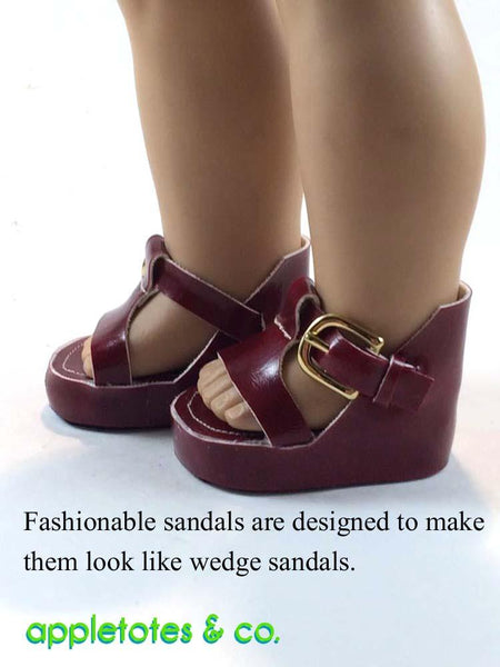 Appletotes & Co 70s Platform Sandals Doll Shoe Pattern 18 ...