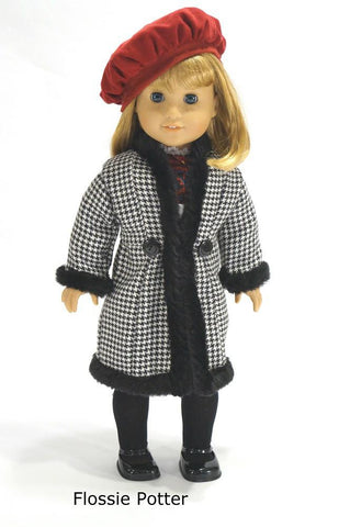 "'70s Triple Play Coats 18"" Doll Clothes Pattern"