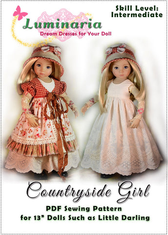Countryside Girl Pattern for Little Darling Dolls