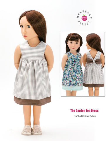 "Garden Tea Dress Pattern For 16"" A Girl For All Time Dolls"