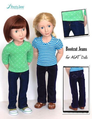 Bootcut Jeans Pattern for AGAT Dolls