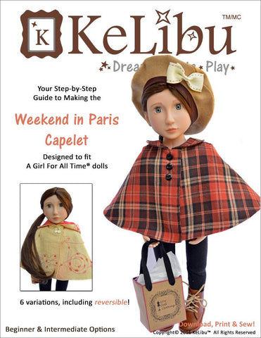 Weekend in Paris Capelet for AGAT Dolls