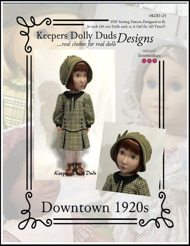 Downtown 1920s Dress and Hat Pattern For A Girl For All Time Dolls