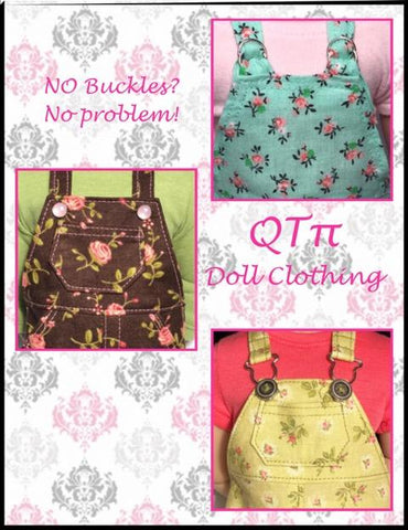 PDF sewing pattern QTPie Oh My Gosh Overalls designed to fit 16 inch A Girl For All Time Dolls