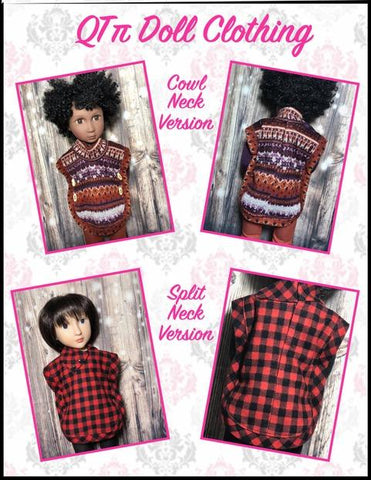 Poncho Pattern For A Girl For All Time Dolls