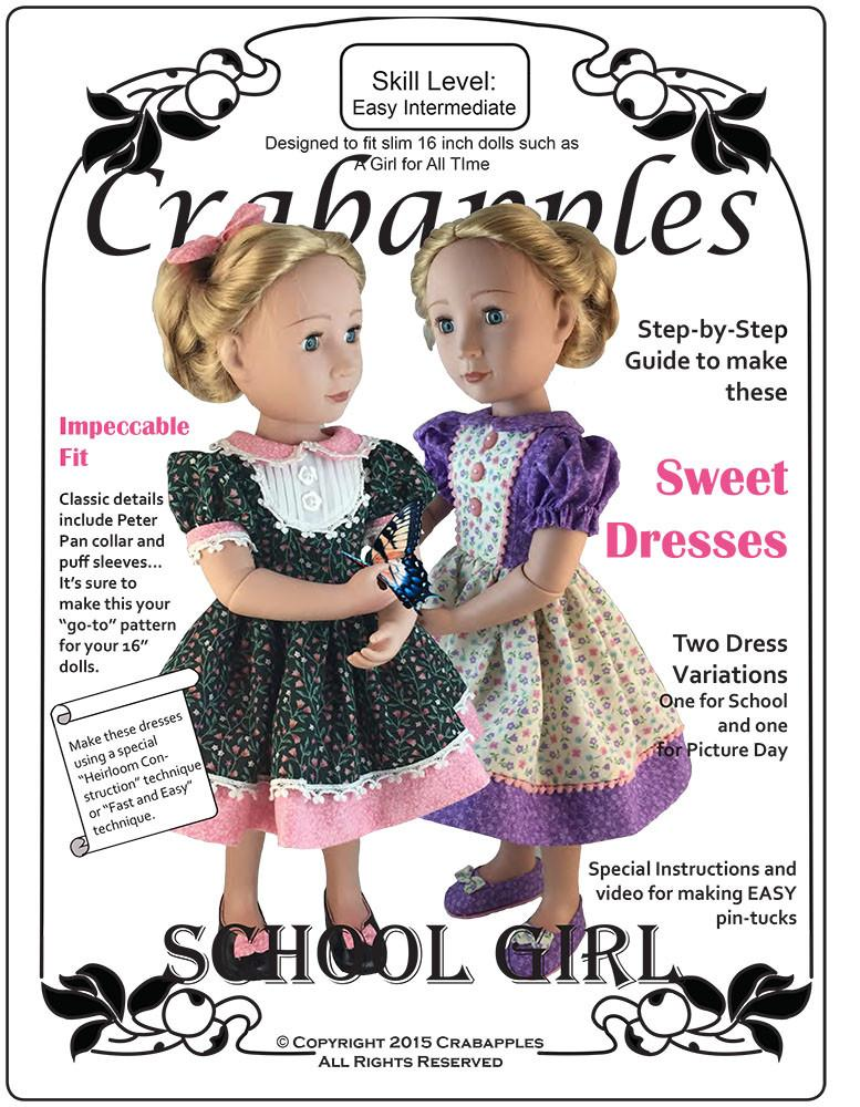 5de9a08f4 Crabapples School Girl Dresses A Girl For All Time Doll Clothes PDF ...