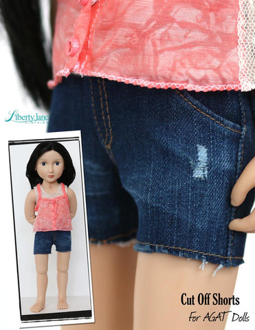 Skinny Jeans and Shorts Pattern For AGAT Dolls