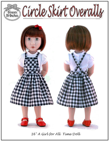 Circle Skirt Overalls Pattern for A Girl For All Time and Starlette Dolls