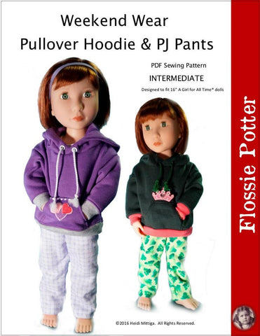 Flossie Potter A Girl For All Time Weekend Wear Hoodie & PJ Pants for AGAT Dolls Pixie Faire