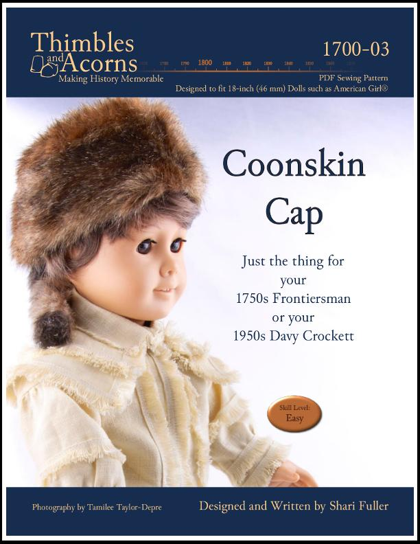 pdf sewing pattern davy crockett coonskin cap designed to fit American Girl  Dolls ... d7a40139e1c