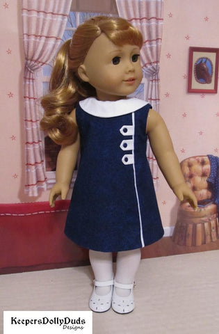 "1960s Town and Country Dress 18"" Doll Clothes Pattern"