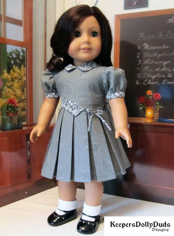 Keepers Dolly Duds Bodice Details PDF doll clothes sewing pattern designed to fit 18 inch American Girl dolls