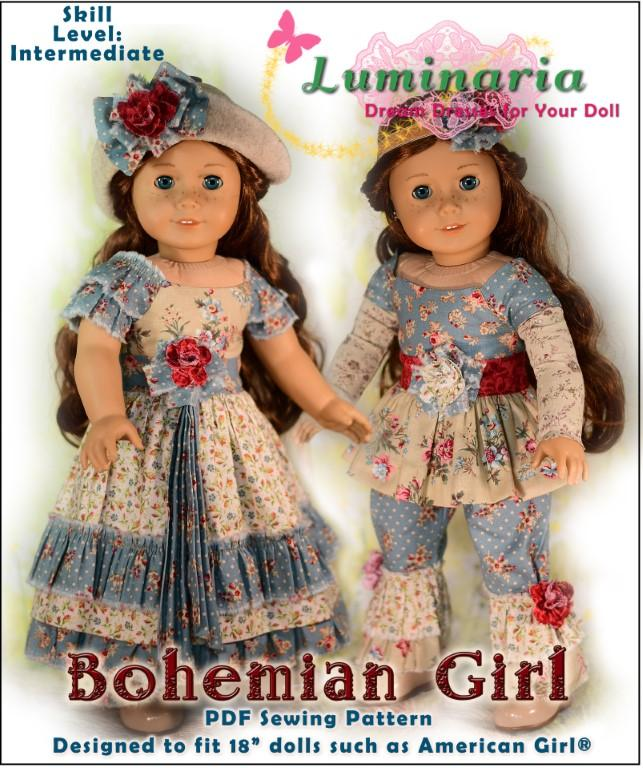 Luminaria Designs Bohemian Girl Doll Clothes Pattern 18\