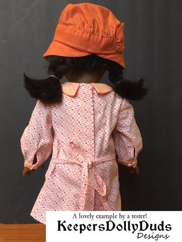 "Downtown 1920s Dress and Hat 18"" Doll Clothes Pattern"