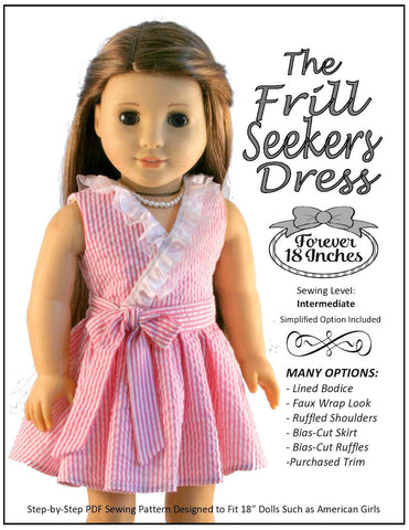 "Frill Seekers Dress 18"" Doll Clothes Pattern"