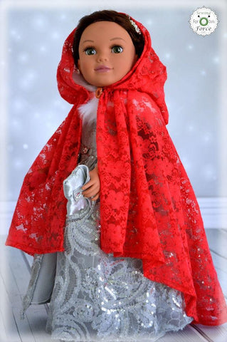 PDF doll clothes sewing pattern Sewing Force Lace Cape designed to fit 18 inch American Girl dolls