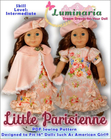 "Little Parisienne 18"" Doll Clothes Pattern"