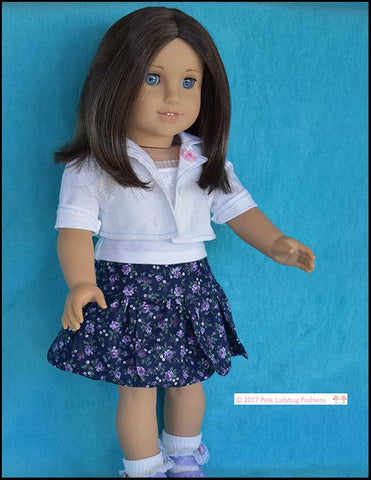"Petal Skirt 18"" Doll Clothes Pattern"