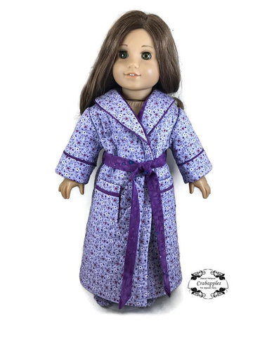 "Pajama Party Bathrobes 18"" Doll Clothes Pattern"