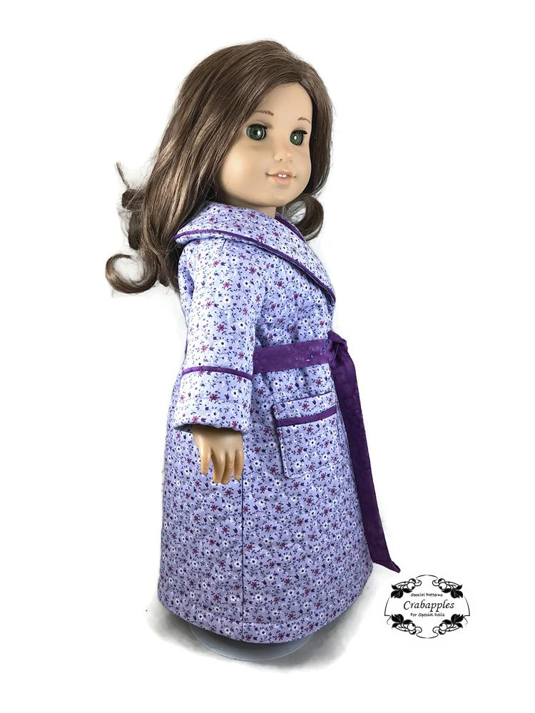 Doll Clothes-Ladybug Print Flannel Robe /& Gown