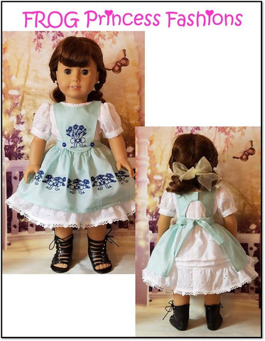 "Precious Pinafores Machine Embroidery Design Set For 18"" Doll Clothes"