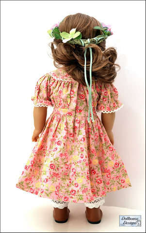 "1850s Spring Gathering 18"" Doll Clothes Pattern"