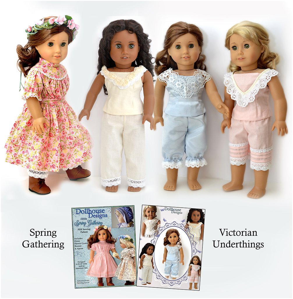 Dollhouse Designs 1850s Spring Gathering Doll Clothes