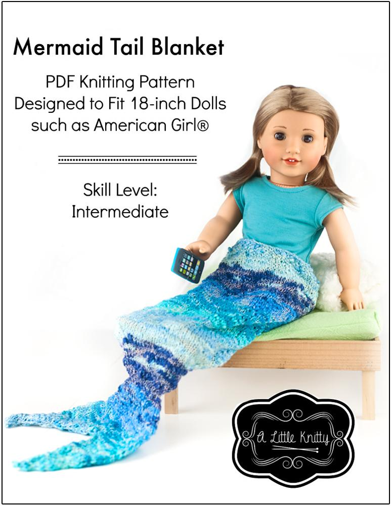 A Little Knitty Mermaid Tail Blanket Doll Clothes Knitting Pattern