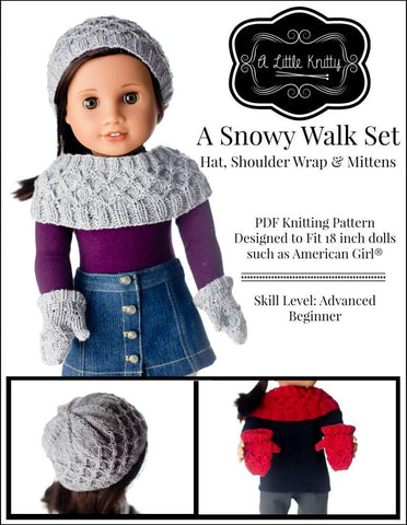 "A Snowy Walk 18"" Doll Knitting Pattern"