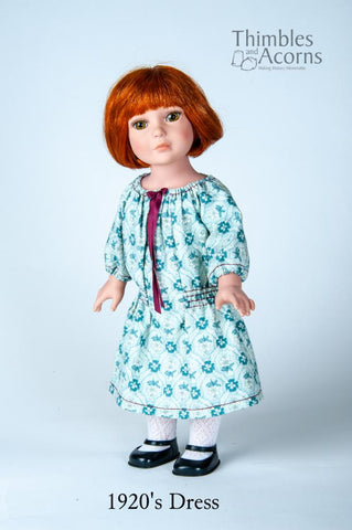 "A Piece of History Dress 18"" Doll Clothes Pattern"