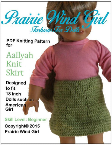 Aallyah Knit Skirt Knitting Pattern