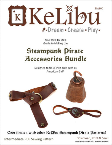 "Steampunk Pirate Accessories 18"" Doll Accessories"