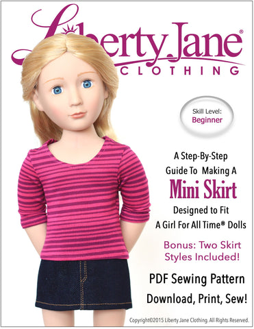 Mini Skirt Pattern for AGAT Dolls