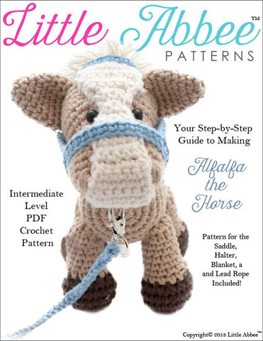 Little Abbee Amigurumi Alfalfa the Horse Amigurumi Crochet Pattern Pixie Faire