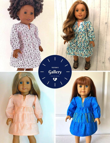 "Liberty Jane 18 Inch Modern Alice Springs Dress 18"" Doll Clothes Pattern Pixie Faire"