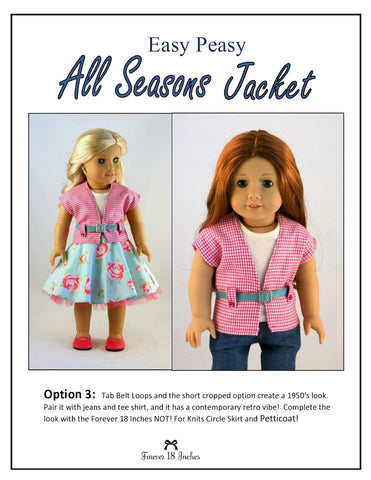 "Easy Peasy All Season Jacket 18"" Doll Clothes"