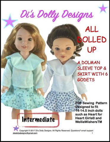 "All Dolled Up 14-14.5"" Doll Clothes Pattern"