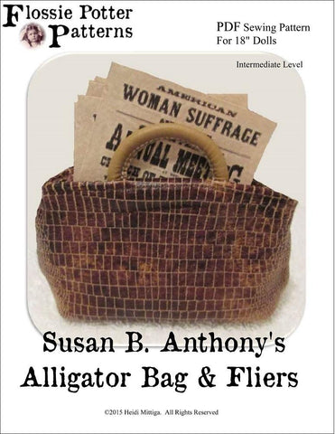 "Susan B. Anthony's Alligator Bag & Fliers 18"" Doll Accessories"