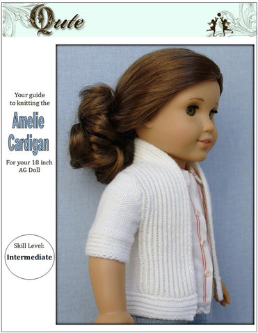 Qute Knitting Amelie Cardigan Knitting Pattern Pixie Faire